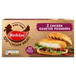 Birds Eye 2 Chicken Quarter Pounder Burgers Frozen