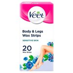 Veet Cold Wax Strips for Body Sensitive Skin