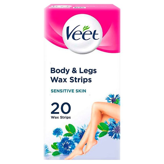 Veet Cold Wax Strips for Body Sensitive Skin ...