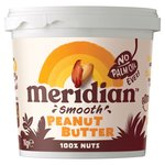 Meridian Natural Peanut Butter Smooth No Salt
