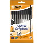 Bic Biro Cristal Ball Pens Medium Black