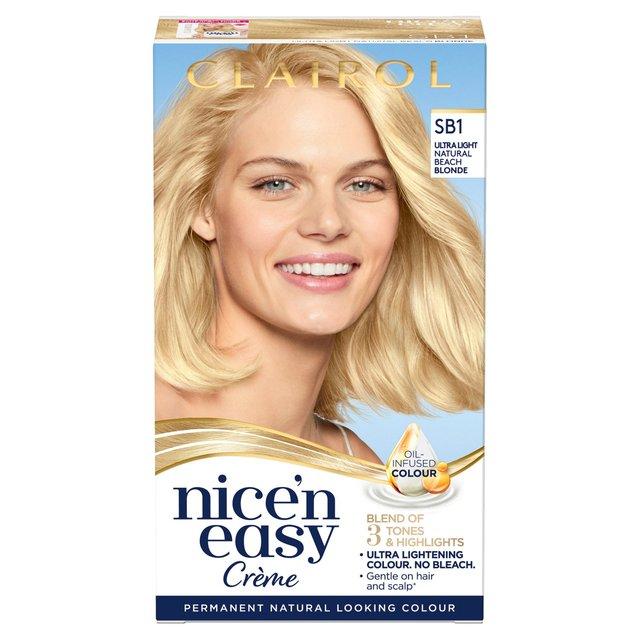 Nice N Easy Hair Dye Natural Beach Blonde Sb1 From Ocado