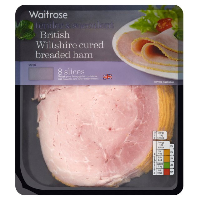 British Wiltshire Cured Breaded Ham Waitrose