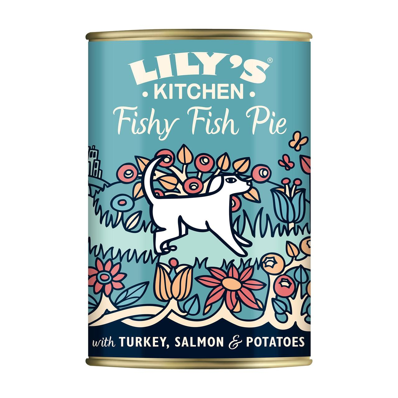 An image of Lily's Kitchen Fishy Fish Pie With Peas