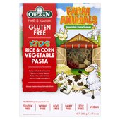 Orgran Gluten Free Rice & Corn Vegetables Pasta Animal Shapes