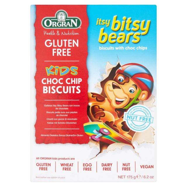 Orgran Free From Chocolate Cookies Itsy Bitsy Bear