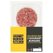 Gourmet Burger Kitchen 2 Beef Burgers