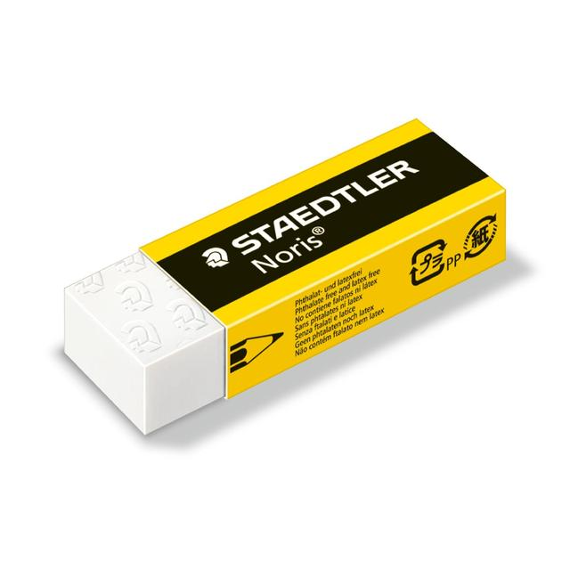 staedtler noris eraser 2 per pack from ocado