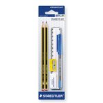 Staedtler Noris Pencils Eraser Sharpener & Ruler Set