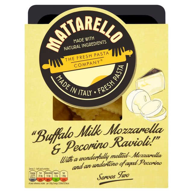 Mattarello Buffalo Milk Mozzarella & Pecorino Ravioli 250g from Ocado