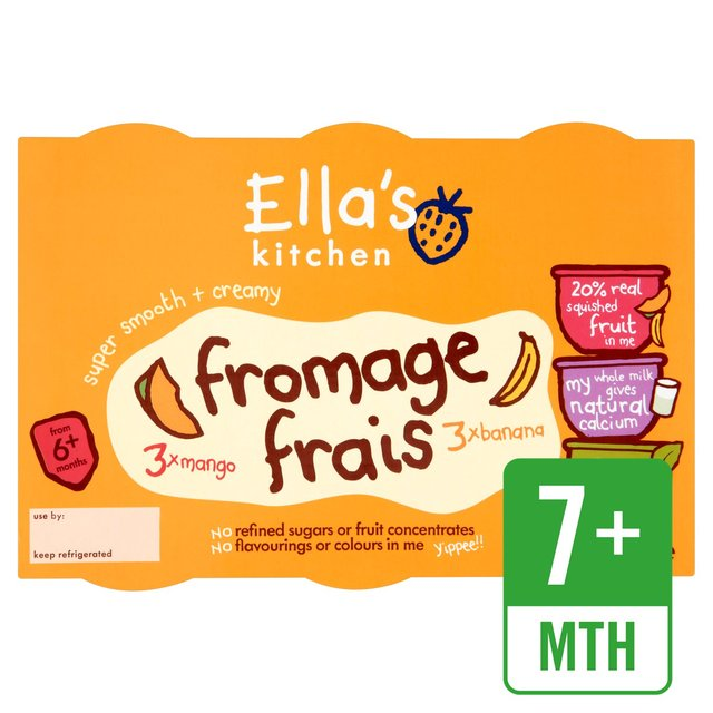 Ella's Kitchen Organic Super Smooth & Creamy Banana & Mango Fromage Frais