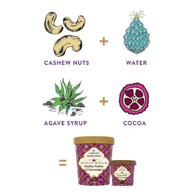 Booja Booja Organic Hunky Punky Chocolate Ice Cream Ocado