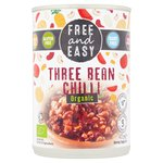 Free & Easy Organic Three Bean Chilli