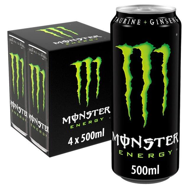 monster energy drink 4 x 500ml from ocado. Black Bedroom Furniture Sets. Home Design Ideas