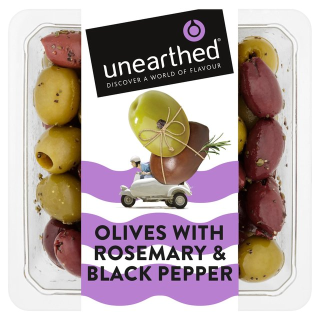 Unearthed Black Pepper & Rosemary Flavoured Olives