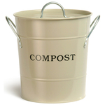 Steel Compost Bucket, Clay