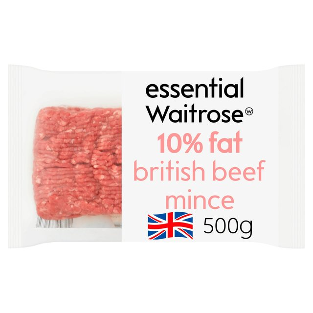 British Beef Mince (typically 10% fat) Waitrose