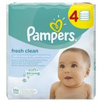 Fresh Clean Refill Baby Wipes 4 x 64 per pack