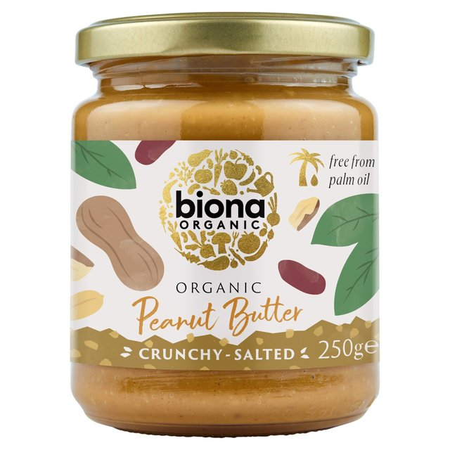 Biona Organic Peanut Butter Crunchy (free from Palm Fat) | Ocado