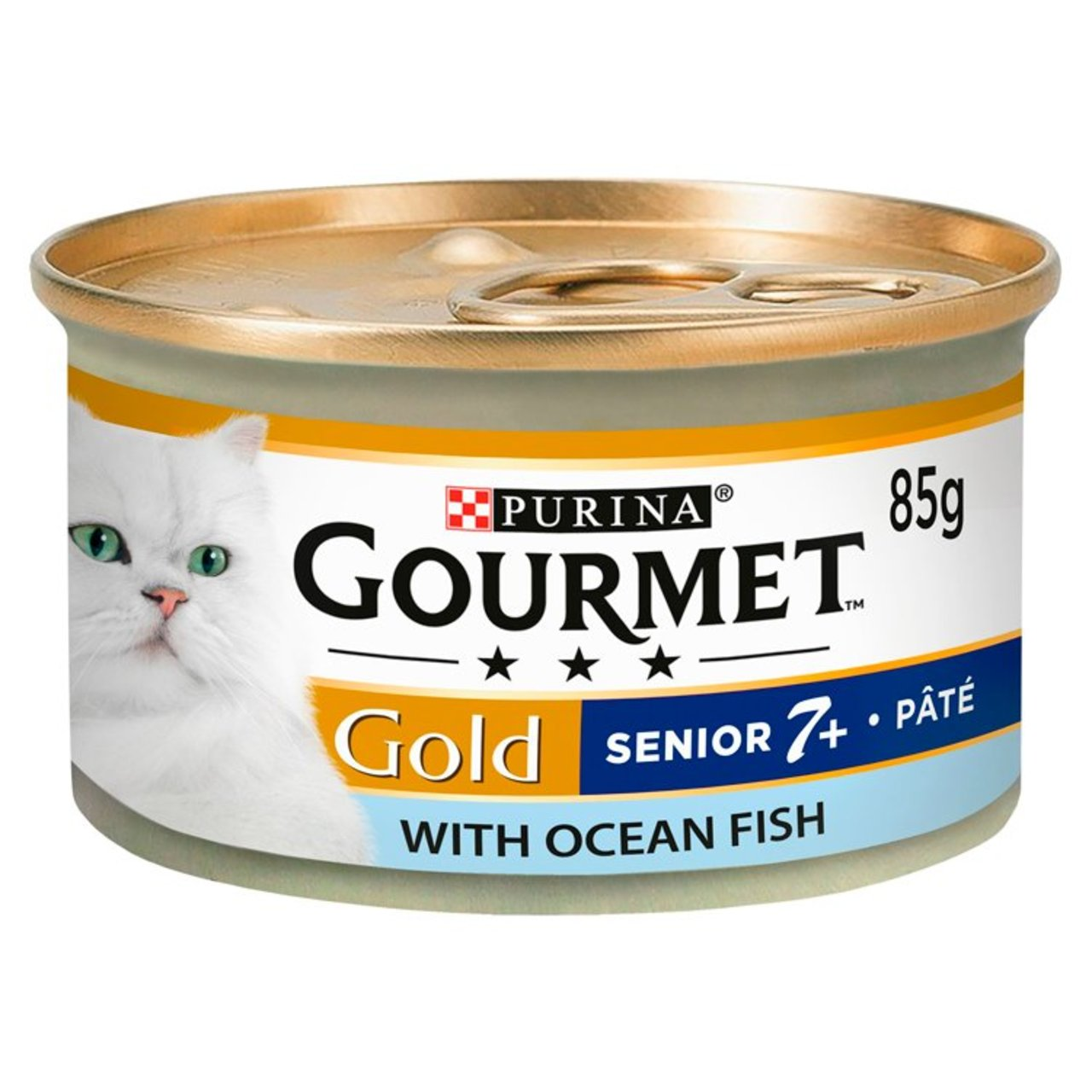 An image of Gourmet Gold 7+ Cat Food Pate with Ocean Fish