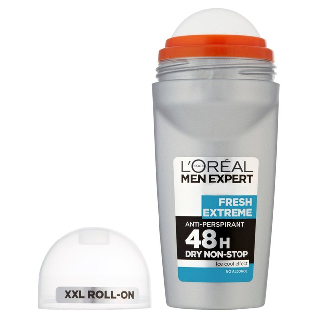 l 39 oreal men expert fresh extreme roll on anti perspirant deodorant 50ml from ocado. Black Bedroom Furniture Sets. Home Design Ideas