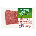 Waitrose Duchy Organic British Lean Beef Mince (typically 10% Fat)