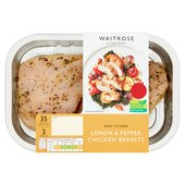 Waitrose Lemon & Pepper Chicken Breast Fillets