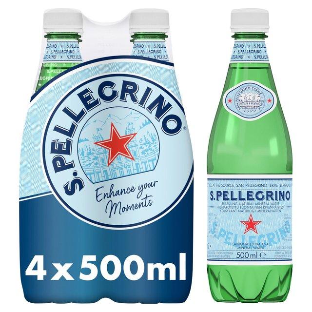 995bd6f0f3 San Pellegrino Sparkling Natural Mineral Water 4 x 500ml from Ocado