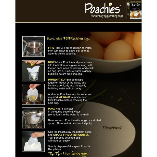 Other Poachies Egg Poaching Bags Make Proper Poached Eggs Convenient To Cook