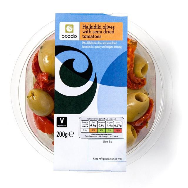 Ocado Halkidiki Olives with Semi Dried Tomatoes