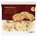 Waitrose 6 Charentes Butter Pains aux Raisins Frozen