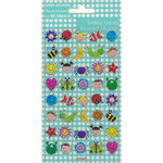 Smiley Faces Reusable Stickers, 3yrs+