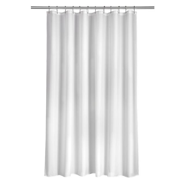 Croydex Textile Shower Curtain White