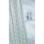 Croydex Mosaic PVC Shower Curtain, Silver