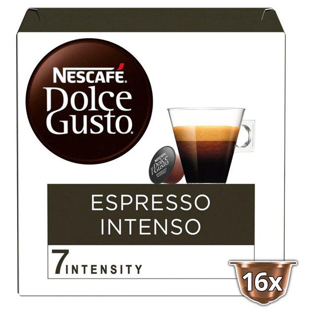 nescaf dolce gusto kaffeekapseln espresso intenso 48 kapseln f r 48 getr nke. Black Bedroom Furniture Sets. Home Design Ideas