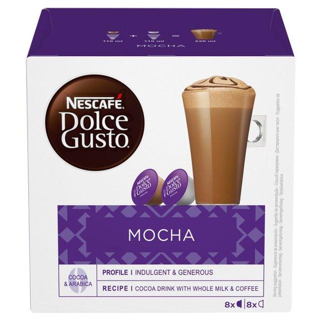 nescafe dolce gusto mocha pods 8 per pack from ocado. Black Bedroom Furniture Sets. Home Design Ideas