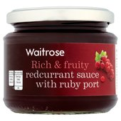 Waitrose Redcurrant Sauce with Ruby Port