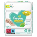 Pampers New Baby Sensitive 200 Baby Wipes 4 x 50 per pack