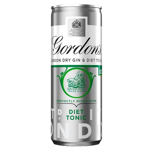 Gordons Gin Slimline Tonic 250ml From Ocado