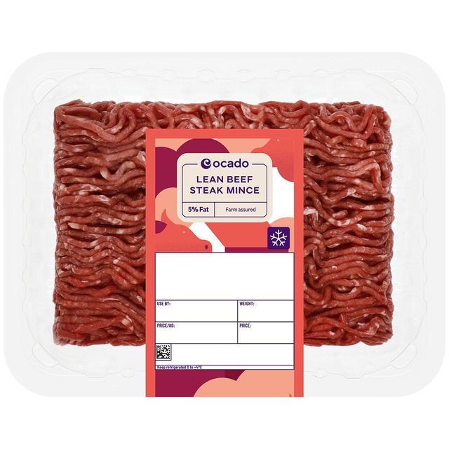 Ocado lean beef steak mince 5 fat 500g from ocado