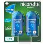 Nicorette Lozenges Icy Mint 2mg Cools