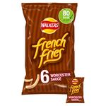 Walkers French Fries Worcester Sauce Snacks 18g x