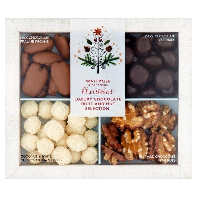 Waitrose Christmas Belgian Chocolate Nut Selection Ocado