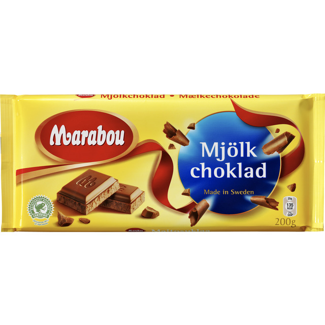 marabou mjolkchoklad milk chocolate 200g from ocado. Black Bedroom Furniture Sets. Home Design Ideas