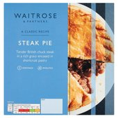 Waitrose Steak Pie with Shortcrust Pastry