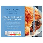 Waitrose Steak, Mushroom & Red Wine Pie with Puff Pastry Lid