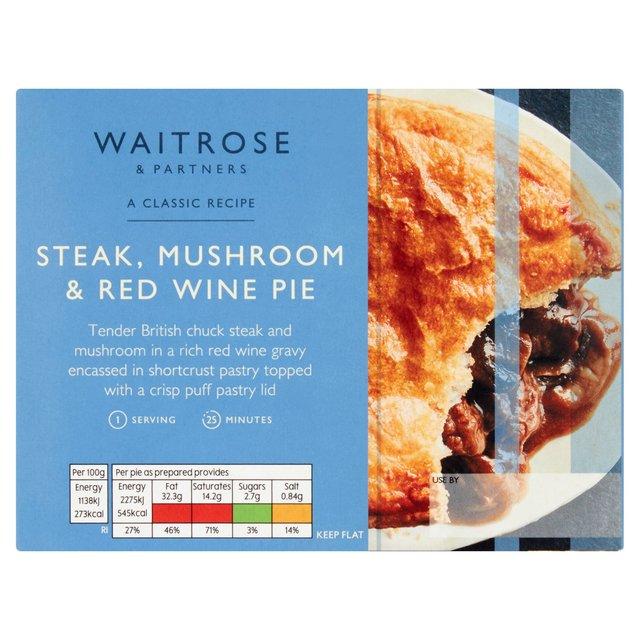 Waitrose Steak, Mushroom & Red Wine Pie with Puff Pastry ...