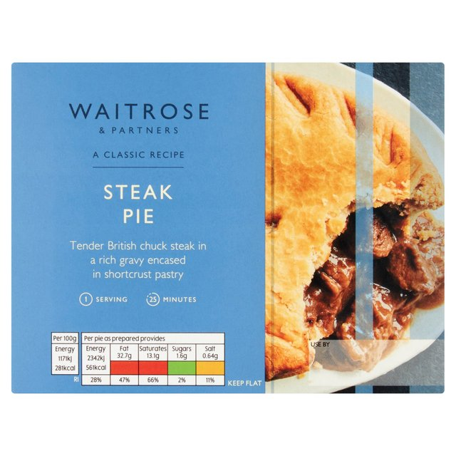 Waitrose Steak Pie with Shortcrust Pastry 210g from Ocado