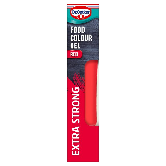 Dr. Oetker Extra Strong Red Food Colouring Gel | Ocado