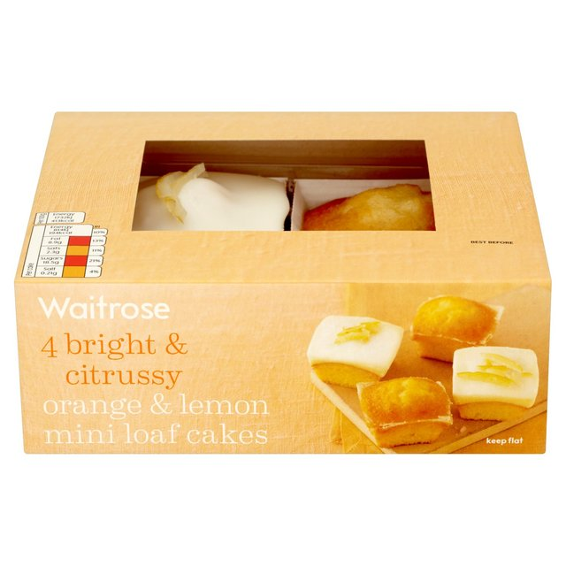Ocado: Orange & Lemon Mini Loaf Cakes Waitrose 4 per pack(Product ...